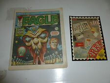 EAGLE Comic - Date 07/04/1984 - UK Paper Comic Inc Stamp Collector Flyer