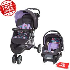 Stroller Car Seat Travel System Infant Baby Jogger Purple w/ Storage Basket New