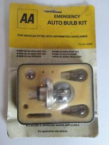 1970-80s AA bulb kit.Vehicle bulbs.Automobile Association.RAC.