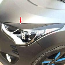 Carbon Fiber Head light Eyelid Eyebrow Cover Trim For Hyundai Veloster 2011-2017