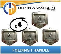 Recessed Stainless Folding T Lock / Handle (Trailer Caravan, Toolbox) Drop T x4