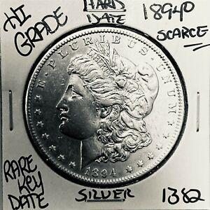 1894 O MORGAN SILVER DOLLAR HI GRADE GENUINE U.S. MINT RARE KEY COIN 1382