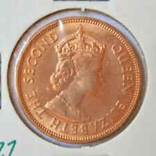 MAURITIUS: large 1969 bronze 5 Cents; attractive red UNC, orig mint luster (M2)