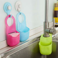 Kitchen Sink Sponge Holder Bathroom Hanging Strainer Organizer Storage Rack KY