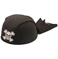 Kids PIRATE BANDANNA HAT Bandana Skull Crossbone Headwear Party Accessories UK