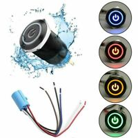 LED Power Sign On-Off Car Button Latch Metal Toggle SPDT Switch With Wire Socket