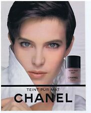 PUBLICITE ADVERTISING 104 1991 CHANEL teint pur mat