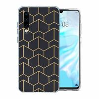 For Huawei P30 Silicone Case Geometric Abstract - S6130
