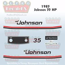 1983 Johnson 35 HP Sea-Horse Outboard Reproduction 11 Piece Marine Vinyl Decals
