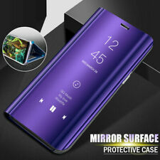 For Xiaomi Redmi Note 9S 8 7 Pro 8T A3 Flip Leather Mirror Clear View Case Cover