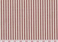 Red Ticking Stripe by Waverly Drapery Upholstery Fabric Timeless Ticking Crimson