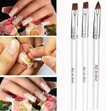 3pcs brosse à ongles gel acrylique nail art