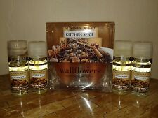 6 BATH and & BODY WORKS SLATKIN KITCHEN SPICE HOME FRAGRANCE OIL WALLFLOWER LOT