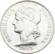 LANZ PORTUGAL 50 CENTAVOS 1913 Wappen Freiheit Kranz Silber ½TEZ799