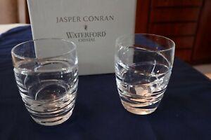 "2 Waterford Crystal ""Aura"" Tumblers by Jasper Conran + Box Super Cond 10.5cm"