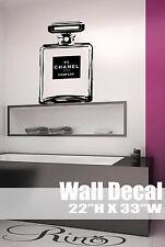Chanel no 5 bottle Wall Art Vinyl Decal sticker home decor parfume parfum paris