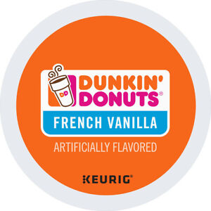 Dunkin' Donuts French Vanilla Coffee 24 to 144 Count Keurig K cup Pick Any Size