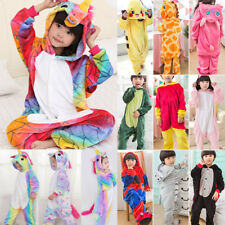 Kids Boys Girls Dinosaur Coveralls Pajamas Sleepwear Pjs Cosplay Fancy Costumes