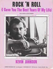 Rock 'N Roll - Kevin Johnson - 1975 Sheet Music