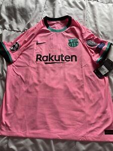 Lionel Messi Nike Fc Barcelona Third Kit Authentic Vapor Match 2x Jersey Patch