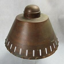 Vintage Rustic Arts & Crafts Copper Lamp Shade Oil Kerosene Electric Lamps