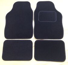 CAR FLOOR MATS- BLACK WITH BLACK TRIM FOR MINI COOPER CLUBMAN ONE FIRST