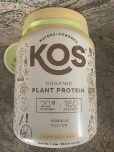 KOS Organic Plant Based Protein Powder, Vanilla 1.2 Lbs 555g