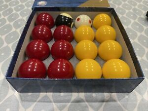 "SUPER ARAMITH PRO CUP 2"" Pool Balls with 1 7/8"" cue ball TV Tournament balls"