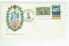 Lithuania 1918 1968 Illinois 1818 1968 comm cover Lithplex Chicago SC 1339 Mi401