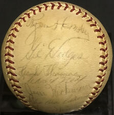 1962 Mets team signed baseball 30 auto Gil Hodges Rogers Hornsby Red Ruffing JSA