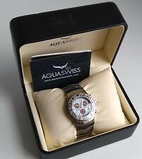 Chronograph Aquaswiss Swissport Watch M-9629M Silicone Band New