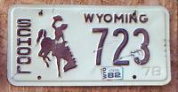 """Original Wyoming 78 """"School"""" US Nummernschild"""