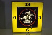 Vintage Winchester Fire Arms PAM Wall Clock Yellow Ammo Ammunition Gun Rifle