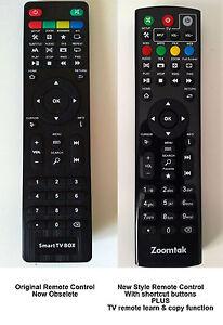 ZOOMTAK MEDIA BOX REMOTE CONTROL FOR K5 K9  H8 T8 T6 M8 M5 M6 & I6 MODELS