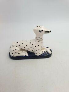Staffordshire Style Whippet Greyhound Hearth Sitting Dog Figurine Ornament
