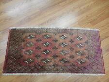 Vg Dy Antique Kazak Qashqai Turkeman Viss Serapi Heriz 1.8x3.6 Estate Sale Rug