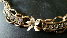 Vintage AB Rhinestone Necklace and Matching Earrings Designer Quality