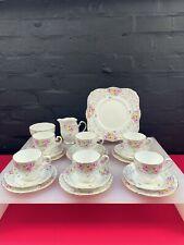 More details for vintage grafton 8296 tea trios cups saucers plates jug sugar cake set 21 items