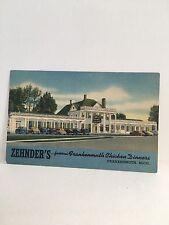 postcard PC MI Michigan ZEHNDERS Frankenmuth chicken dinner ad