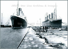 Photo:  RMS Titanic & RMS Olympic: Best View From Outer Utility Dock - 1912