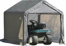 ShelterLogic 6' x 6' Shed-in-a-Box All Season Steel Metal Peak Roof Outdoor Stor