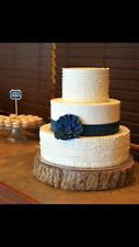 "10-12"" Rustic Wedding Wood Tree Slice Wedding Decor Wood Cake Stand Woodland"
