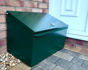 Lockable Metal Parcel Delivery Box Secure Container Courier Package Postbox Box