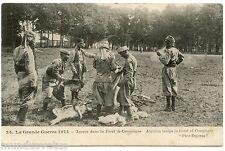 GUERRE. WAR. TURCOS DANS LA FORET DE COMPIèGNE. ALGERIAN TROOPS IN FOREST.