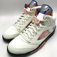 Nike Air Jordan 5 Retro Men's Shoes Sail/Racer Blue-Cone-Black 136027-148