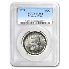 1921 Missouri 2x4 Half Dollar Centennial MS-64 PCGS