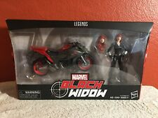 Marvel Legends Ultimate Riders Series Black Widow with Motorcycle - New In Box