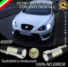 COPPIA LUCI DI POSIZIONE DRL 15 LED P21W CANBUS SEAT LEON MK2 6000K NO ERROR