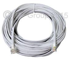 Cavo ADSL 30m HIGH SPEED rj11 Maschio a Maschio Telefono Extra Lungo 30 metri Bianco