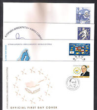 CYPRUS 2004 COMPLETE YEAR SETS OFFICIAL + UNOFFICIAL FDCs:10 SETS, 22 STAMPS+1MS